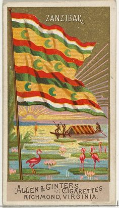 Zanzibar, from Flags of All Nations, Series 2 for Allen & Ginter Cigarettes Brands Ap World History, Art History, Ottoman Flag, Cigarette Brands, Maker Culture, Classical Antiquity, Dutch Artists, Coat Of Arms, Metropolitan Museum