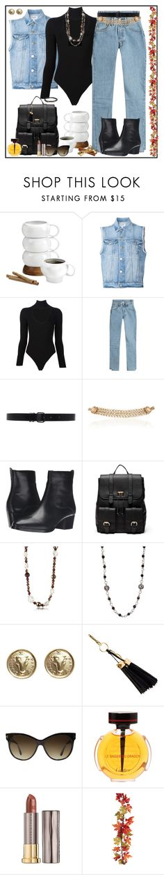 """Sunday Morning Coffee Thing"" by winscotthk ❤ liked on Polyvore featuring Nambé, Frame, Cushnie Et Ochs, Vetements, Ann Demeulemeester, Maison Mayle, Frye, Sole Society, AZ Collection and Lois Hill"