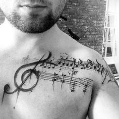 Music Note Tattoos For Guys