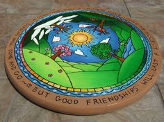 Changing of the Seasons Lazy Susan by Backwood Galleries