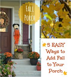Easy ways to add Fall to your porch -www.whatsurhomestory.com