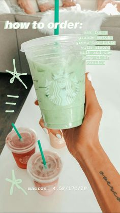 Ever wonder HOW to order those amazing Keto Starbucks drinks? Need to lose weigh.Ever wonder HOW to order those amazing Keto Starbucks drinks? Need to lose weight fast? These Keto Starbucks drinks are for you! Starbucks Hacks, Café Starbucks, How To Order Starbucks, Starbucks Secret Menu Drinks, Starbucks Refreshers, Starbucks Drinks Coffee, Starbucks Matcha Green Tea Latte Recipe, Starbucks Smoothie, Starbucks Pink Drink Recipe