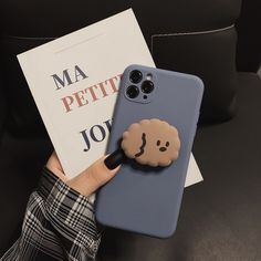 Simple Design Blue Case Cute Little Dog for iPhone 6 6s 7 8 Plus X XS XR 11 Pro Full Soft Phone Case
