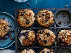 When our crumbly-crisp topping meets the light, fluffy belly of this muffin, you'll swoon.   View Recipe: Blueberry-Sour Cream Muffins