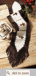 Cowhide Cross Table Runner