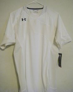 Under Armour Men's UA Dominate Short Sleeve Soccer Jersey-White #UnderArmour #ShirtsTops $0.99