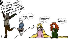 """""""At least I got my left foot"""" LOL!!!!!  And poor Rapunzel needs a sequel too.  She totally does."""