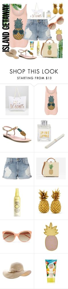 """Pineapple Getaway"" by numeangeleyes on Polyvore featuring WALL, South Beach, Dolce&Gabbana, Modern Alchemy, Frame, CHARLES & KEITH, Forever 21, Linda Farrow, Des Petits Hauts and islandgetaway"