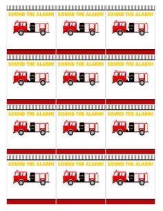 Free fireman party printables
