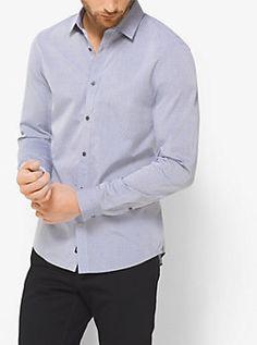 Slim-Fit Cotton Shirt by Michael Kors