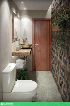 Tropical bathroom photos by studio vtx i homify Interior Design Presentation, Green Interior Design, Interior Design Studio, Cloakroom Toilet Downstairs Loo, Bathroom Vanity Units, Guest Toilet, Small Toilet, Bathroom Design Luxury, Bathroom Interior