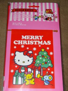 Hello Kitty  MERRY CHRISTMAS  House Flag 28 X 40 *** Read more reviews of the product by visiting the link on the image.