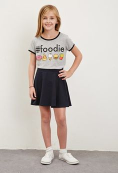 Hashtag Foodie Ringer Tee (Kids) | Forever 21 girls - 2000173626