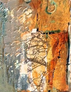 """Joan Fullerton Paintings: Mixed Media Abstract Painting """"Yesterday"""" by Intuitive Artist Joan Fullerton"""