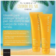 Usá los nuevos #protectores solares Mary Kay y disfrutá del #sol con la tranquilidad de estar protegiendo tu #piel. #MaryKay #Sol