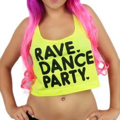 iHeartRaves Rave Dance Party Rave Festival Crop Top