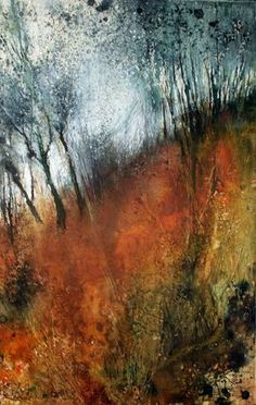 """Mixed Media Artists International: Abstract Mixed Media Landscape Art Painting """"Color Study by Colorado Mixed Media Abstract Artist Carol Nelson Abstract Landscape Painting, Abstract Oil, Watercolor Landscape, Abstract Watercolor, Landscape Art, Landscape Paintings, Watercolor Paintings, Abstract Trees, Landscapes"""