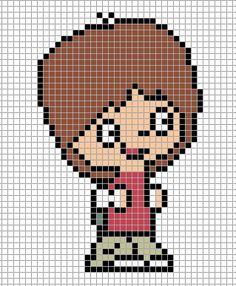 Mac - Foster's Home for Imaginary Friends perler bead pattern