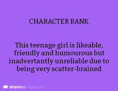 the character could be written to have a learning disability (scatter brained can be a symptom of certain learning disabilities)