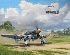 Typhoon 'Armed and dangerous' painting by Colin Parker.