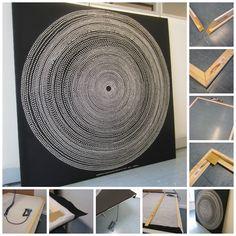 Tee-se-itse-naisen sisustusblogi: Fabric Board Wall Out of Marimekko Fokus Fabric