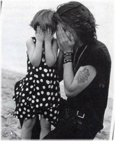 Johnny Depp with daughter Lily Rose
