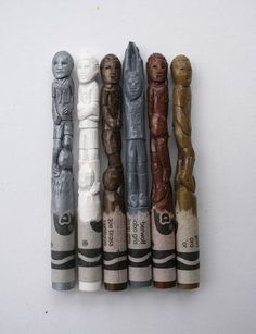 Carved crayon World Cup stars. Amazing.