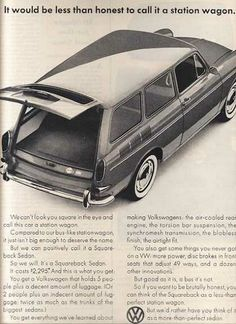 Vintage VW Squareback Ad