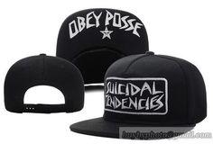 351f87b2b1eca OBEY Snapback Hats Flat Hat Adjustable Caps Visorunder Logo Posse Black  Flat Hats