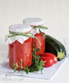 Sos do lasagne w słoikach - Wiem co jem Canning Recipes, Kitchen Recipes, Chutney, Hummus, Christmas Food Gifts, Vegetarian Recipes, Healthy Recipes, Sauces, Good Food