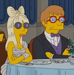 The Simpsons Lady Gaga and Elton John