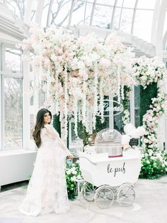 Baby Carriage Cotton Candy Cart from a Luxury Baby Shower on Karas Party Ideas Shower Party, Baby Shower Parties, Baby Shower Themes, Shower Ideas, Fiesta Baby Shower, Baby Boy Shower, Baby Shower Elegante, Elegant Bridal Shower, Christmas Events