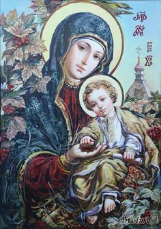 Mary Mother of God and Baby Juses Jesus And Mary Pictures, Mary And Jesus, Blessed Mother Mary, Blessed Virgin Mary, Religious Photos, Religious Art, Hail Holy Queen, Queen Of Heaven, Mama Mary