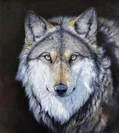 Wolf-pastel art