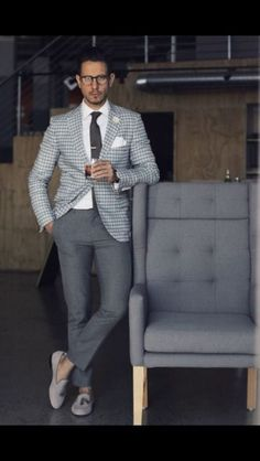 Best Business Casual Outfits Ideas - Fashionable - The Effective Pictures We Offer You About Business Casual fall A quality picture can tell you many Trajes Business Casual, Best Business Casual Outfits, Business Formal, Office Outfits, Work Outfits, Business Fashion, Mens Business Professional, Checkered Suit, Business Casual