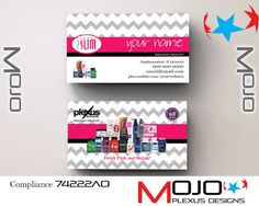 Personalized Plexus Business Cards Designs By Mojo