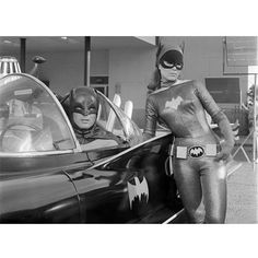 Get this awesome black and white gallery print that shows Batgirl leaning on the Batmobile with Batman in the driver's seat (from episode Nora Clavicle And The Ladies' Crime Club, aired January 18, 19