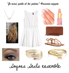 """""""Je t'aime"""" by kate6315 ❤ liked on Polyvore featuring H&M, Elegant Touch, FOSSIL, Yves Saint Laurent, tarte, Banana Republic and Bling Jewelry"""