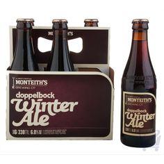 Doppelbock Winter Ale – Monteith's 330 ml X 6 bottles | Shop New Zealand