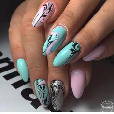 Nail Shapes - My Cool Nail Designs Shellac Nail Art, Glitter Nail Art, Matte Nails, Edge Nails, Round Nails, Oval Nails, Beautiful Nail Designs, Cool Nail Designs, Types Of Nails Shapes