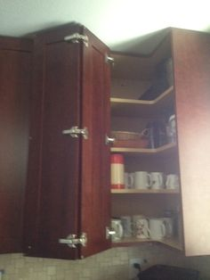 Upper corner cabinet option I had an upper blind corner for close to 40  years.