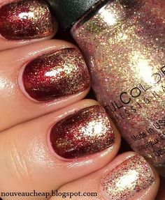 Glitter Gradient with Sinful Colors Gilded