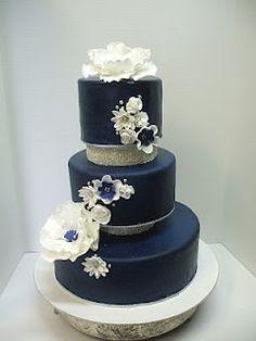 blue wedding cake...in purple please