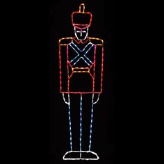 87 in. Outdoor LED Large Toy Soldier Display - 200 Bulbs - LED-TS40
