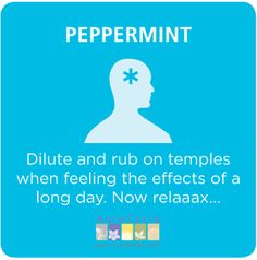 Get rid of fogginess at the end of the day with peppermint essential oil #aromtherapy
