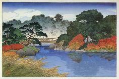 hanga gallery . . . torii gallery: Asano River in Kanazawa District by Kawase Hasui