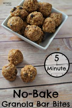 Peanut Butter Granola Bar Bites! You would NEVER guess these suckers are as healthy as they are, they are so yummy!