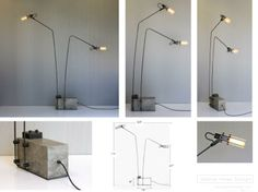 alar-double-stem-floor-lamp-concrete-base | Betonlamp