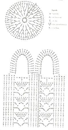 Prima Comunione Di Giuseppe Salve A Tu - Diy Crafts Crochet Diagram, Crochet Chart, Crochet Motif, Crochet Stitches, Knit Crochet, Crochet Patterns, Free Crochet Bag, Crochet Market Bag, Crochet Handbags