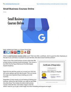 Small business courses online